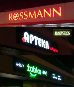 Reklamy świetlne neony